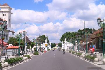 Suasana sendu menuju alun-alun utara Yogyakarta